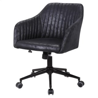 Bologna KD Fabric Office Chair, Lustrous Black