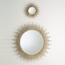 Spike Mirror-Antique Brass