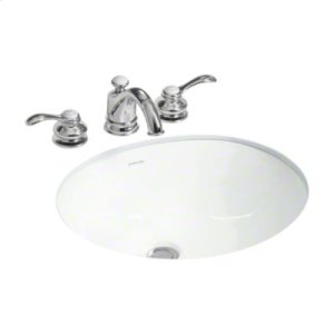 "Wescott® Undercounter Lavatory, 17"" x 15"" - White Product Image"