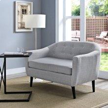 Wit Upholstered Fabric Loveseat in Light Gray