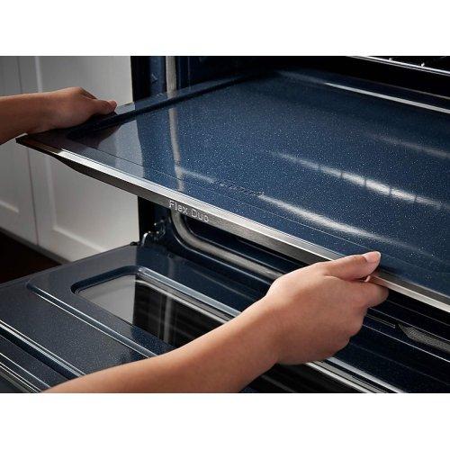 5.9 cu. ft. Freestanding Electric Range with Flex Duo & Dual Door in Black Stainless Steel