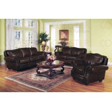 "BONDED LEATHER SOFA 91""X36-1/2""X39""H"
