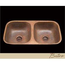 Bistro - Kitchen Sink - Plain Pattern - Polished Copper