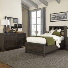 Twin Bookcase Bed, Dresser & Mirror