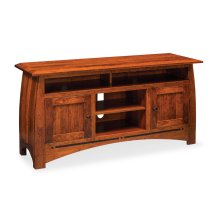 "Aspen TV Stand with Soundbar Shelf, Aspen TV Stand with Soundbar Shelf and Inlay, 54""w"