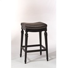 "30"" Vetrina Backless Bar Stool, Black"