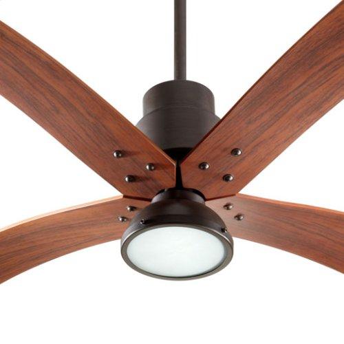 Flex Oiled Bronze Ceiling Fan (1) 18W GU24 Vintage Walnut blades