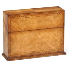 Rectangular Walnut Rope Twist Placemat Box