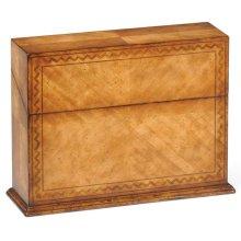 Rectangular Walnut Rope Twist Placemat Box