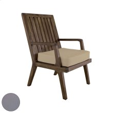 Teak Arm Chair Cushion in Grey