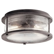 Ashland Bay 2 Light Flush Mount Weathered Zinc