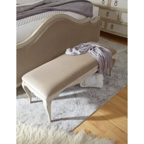 Reece Upholstered Bed Bench in Champagne Beige