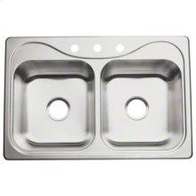 "Southhaven® Double-basin Kitchen Sink, 33"" x 22"""