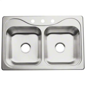 """Southhaven® Double-basin Kitchen Sink, 33"""" x 22"""" Product Image"""