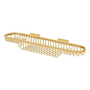 """Wire Basket, 18"""" Combo - PVD Polished Brass Product Image"""