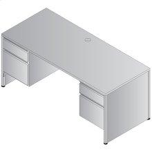 Metal Desk Double Pedestal Credenza 66x22