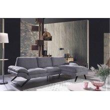 Divani Casa Georgia Modern Grey Fabric Sectional Sofa