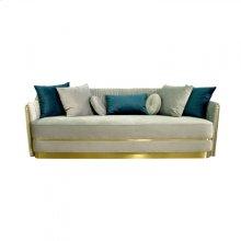 Divani Casa Ardine Modern Grey Velvet & Gold Sofa