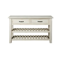 Barn Door Collection Console Table, Antique White