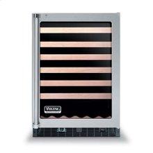 """24"""" Glass Door Wine Cellars - VUWC (Fluted glass door (left-hinge))"""