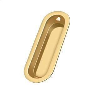 "Flush Pull, Oblong, 3-1/2""x 1-1/4""x 5/16"" - PVD Polished Brass Product Image"
