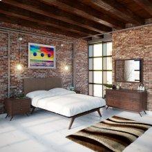Tracy 5 Piece Queen Bedroom Set in Cappuccino Brown