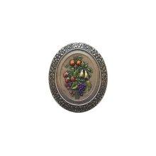 Fruit Bouquet - Hand-tinted Brite Nickel