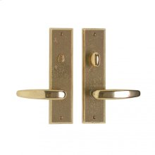 """Rectangular Privacy Set - 2 1/2"""" x 10"""" Silicon Bronze Brushed"""