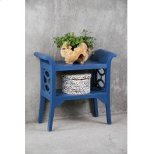 CC-TAB1033LD-SD  Cottage Blue Accent Table and Console  Dark Blue