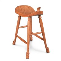 Western Saddle Stationary Barstool Product Image