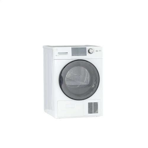 "GE® 24"" 4.1 Cu.Ft. Front Load Ventless Condenser Electric Dryer with Stainless Steel Basket"
