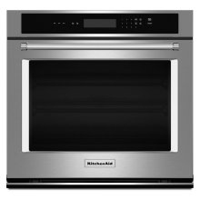 """30"""" Single Wall Oven with Even-Heat™ Thermal Bake/Broil - Stainless Steel"""