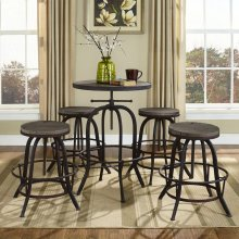 Gather 5 Piece Dining Set in Brown