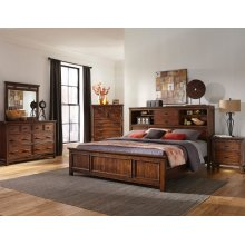 Wolf Creek King Bookcase Storage Bed