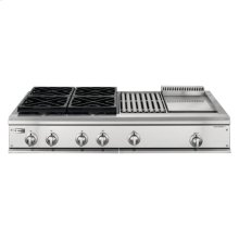 "GE Monogram® 48"" Professional Gas Cooktop with 4 Burners, Grill, and Griddle( Liquid Propane)"