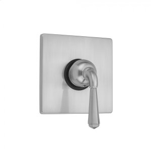 Antique Brass - Square Plate With Hex Lever Trim For Pressure Balance Valve (J-PBV) Product Image