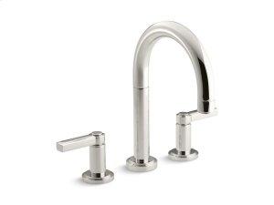 Deck-Mount Bath Faucet, Lever Handles - Nickel Silver Product Image