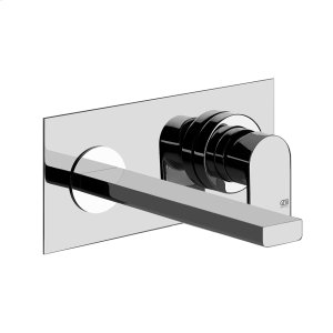 """TRIM PARTS ONLY Wall-mounted washbasin mixer trim Spout projection 7-1/2"""" Drain not included - See DRAINS section Requires in-wall rough valve 26697 Max flow rate 1 Product Image"""