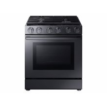 """5.8 cu. ft. 30"""" Chef Collection Professional Gas Range with Dual Convection in Black Stainless Steel"""