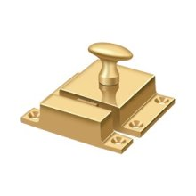 "Cabinet Lock, 1-5/8"" x 2-1/4"" - PVD Polished Brass"