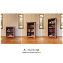 Bookcase, 12 different positions available for shelves (includes 2 removable shelves, (1 middle fixed shelf 2)