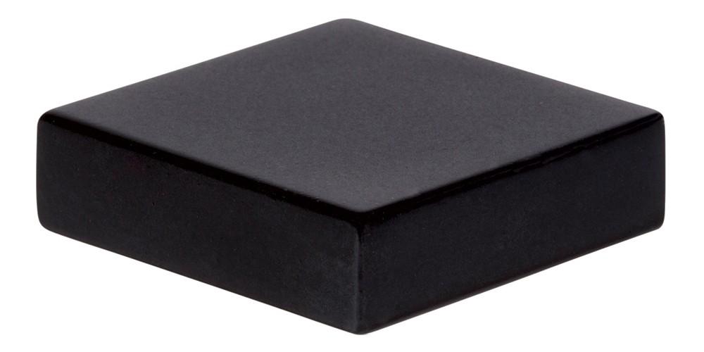 Thin Square Knob 1 1/4 Inch - Matte Black