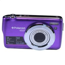 Polaroid 16-Megapixel Ultra Slim 20x Enhanced Optical Zoom Digital Camera with 2.7-Inch LCD Screen, iS529-Purple
