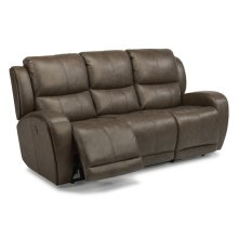 Chaz Leather Power Reclining Sofa with Power Headrest Upgrade