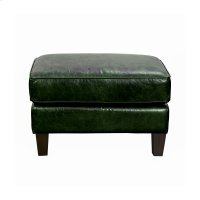 Miles Leather Accent Ottoman in Fescue Green Product Image