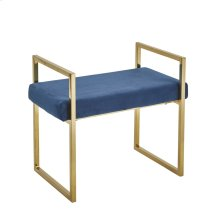 Velveteen Bench, Gold/blue