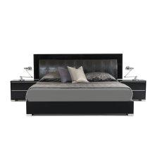 Modrest Grace Italian Modern Black Bed