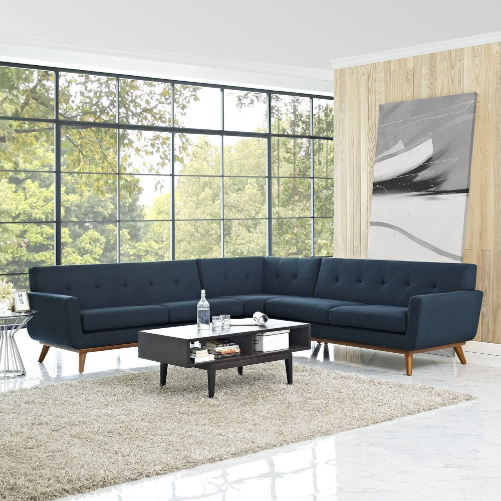 Engage L-Shaped Sectional Sofa in Azure