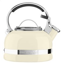 2.0-Quart Kettle with Full Stainless Steel Handle and Trim Band - Almond Cream