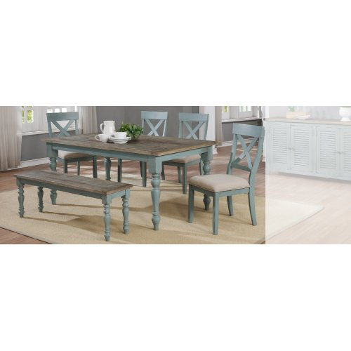 Dining Table & 4 Chairs with Bench-**SPECIAL BUY**
